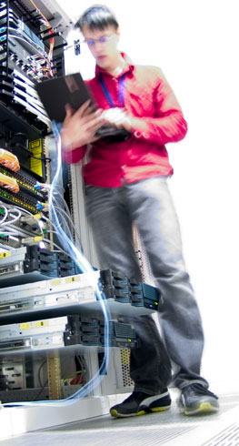 Aspen Systems Engineer Working on Network Switches