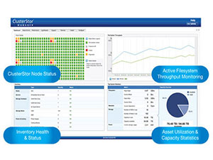 Seagate ClusterStor Manager Dashboard